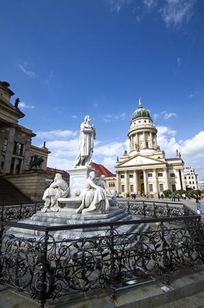 friedrich: friedrich schiller statue on the gendarmenmarkt square in berlin Editorial