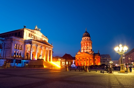 Gendarmenmarkt in Berlin at night, Festival of Lights, germany Stock Photo - 11297175