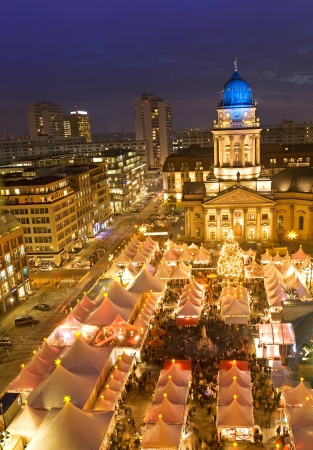 winterzauber christmas market on gendarmenmarkt berlin germany photo