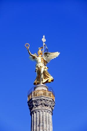 siegessule victory column in berlin germany in summer photo