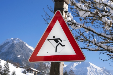 cross country sign in oberstdorf, birgsau, bavaria, allg�u, germany photo