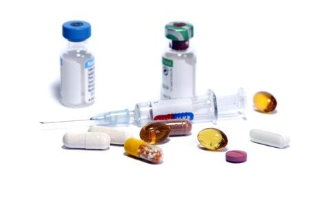 注射器や薬瓶ドーピングのシンボルとして