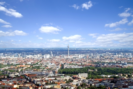 berlin aerial photo with television tower and high rises photo