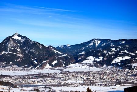 allgau: mount grunten in bavarian alps and the village sonthofen
