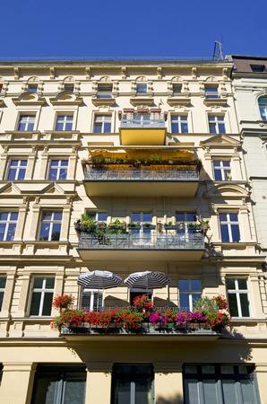 property berlin: beautiful facade of an old house in Berlin Kreuzberg