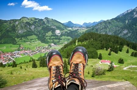 alpen: Bad Hindelang village in the Allg%uFFFDuer Alpen, bavaria, germany