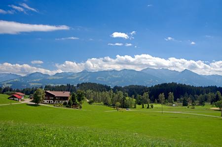 allgau: beautiful mountain range in allgau bavaria germany