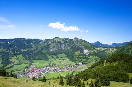 Bad Hindelang village in the Allg uer Alpen photo