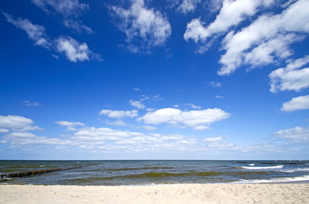beach of the balitc sea on usedom island, germany photo