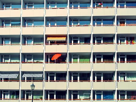 facade: high rises in east berlin, details of facade