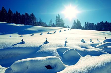 allgau: winter in the german alps, allgau Stock Photo