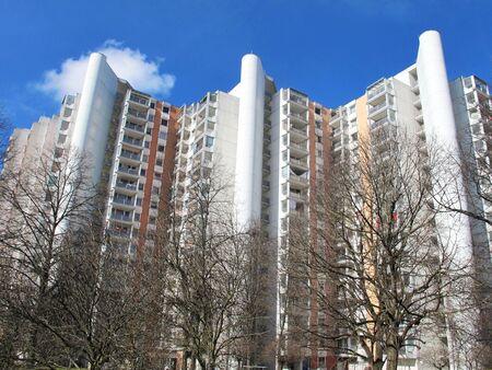 high rises in Neuperlach Munich, germany 版權商用圖片