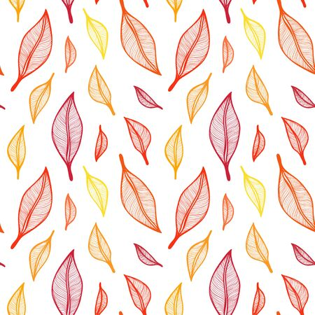 Seamless patterns wich leaves