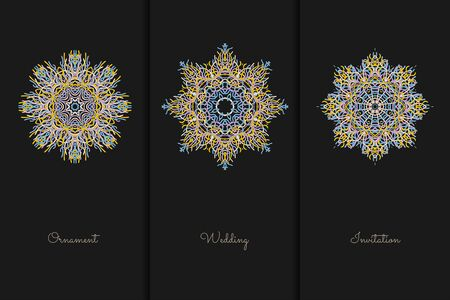 Vector elements for design template. Ornate decor for invitations, greeting cards, certificate, labels, badges, tags