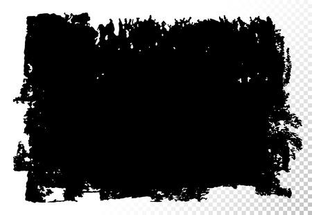 長方形のテキスト ボックスです。ベクトル黒い油汚れが白で隔離。手には、質感のデザイン要素が描画されます。  イラスト・ベクター素材