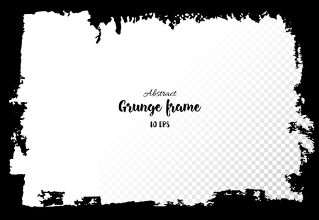 Grunge Frame. Hand Drawing Of Banner, Label, Frame Shape. Black ...