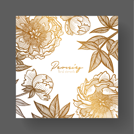 Gold cards templates for wedding stationery, with vintage style, or for many other design projects including wall art, design, branding and marketing material etc Ilustrace