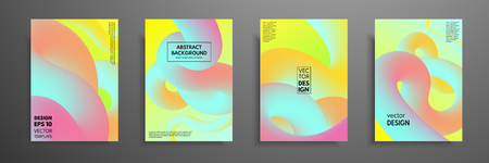 Modern Covers Template Design. Fluid colors. Set of abstract design template for brochures, flyers, banners, presentations, covers, notebooks, business cards, posters and annual reports Banque d'images - 97716734