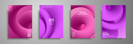 Colorful templates set with abstract elements. Abstract blending liquid color shapes cover design. Applicable for brochures, flyers, banners, covers, notebooks, business cards and posters.