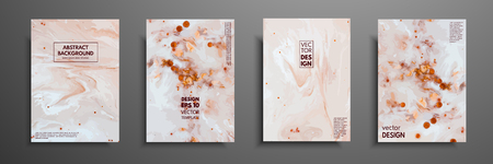 Mixture of acrylic paints. Liquid marble texture. Fluid art. Applicable for design cover, presentation, invitation, flyer, annual report, poster and business card, desing packaging. Modern artwork Çizim
