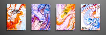 Mixture of acrylic paints. Liquid marble texture. Fluid art. Applicable for design cover, presentation, invitation, flyer, annual report, poster and business card, desing packaging. Modern artwork 일러스트