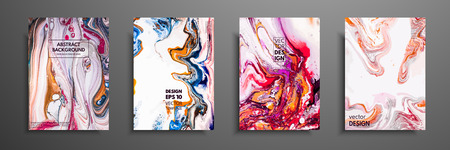 Mixture of acrylic paints. Liquid marble texture. Fluid art. Applicable for design cover, presentation, invitation, flyer, annual report, poster and business card, desing packaging. Modern artwork Illustration