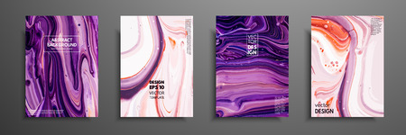 Mixture of acrylic paints. Modern artwork. Trendy design. Marble effect painting. Graphic hand drawn design for design covers, presentation, invitation, flyer, annual report, poster and business card