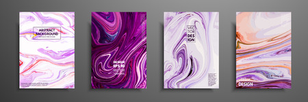 Swirls of marble or the ripples of agate. Liquid marble texture. Fluid art. Applicable for design covers, presentation, invitation, flyers, annual reports, posters and business cards. Modern artwork. Stock Illustratie