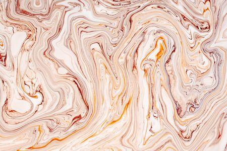 Abstrakte Acrylfarbe Wellen Textur. Schöner, luxuriöser Marmor, Granitmusterhintergrund. Modernes, natürliches Pastellmineral, Harzkunst. Flüssigkeit, Öl, Farbe minimaler dekorativer Hintergrund