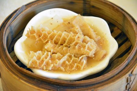 tripe: Steamed belly tripe Stock Photo