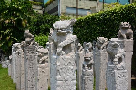beliefs: Folk beliefs of leizhou sculpture stone lion