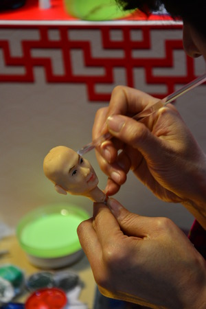 traditional culture: Chinese traditional culture- handmade flour doll Editorial