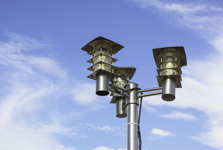 street lamps: street lamps with cloud on sky background
