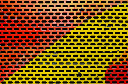 metal sheet: Colorful painted metal sheet perforated with round holes