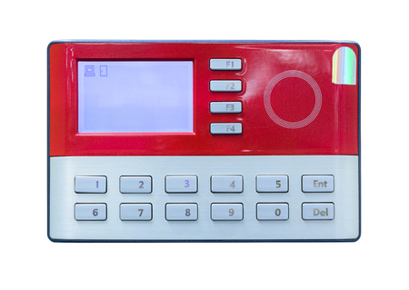 access card: Card scan on access control Stock Photo