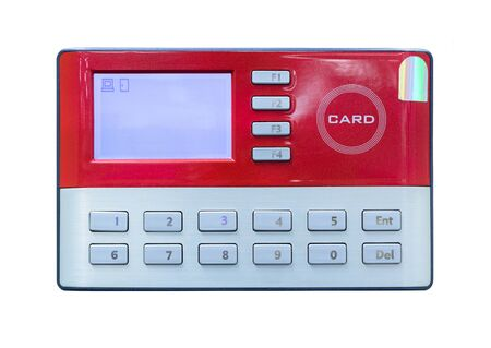 office theft: Card scan on access control Stock Photo