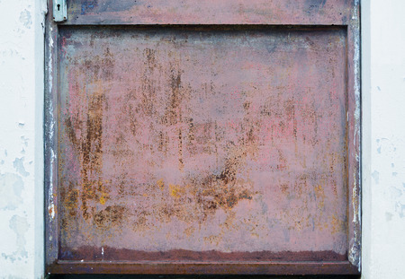 corroded: Old metal door rusty corroded texture background Stock Photo