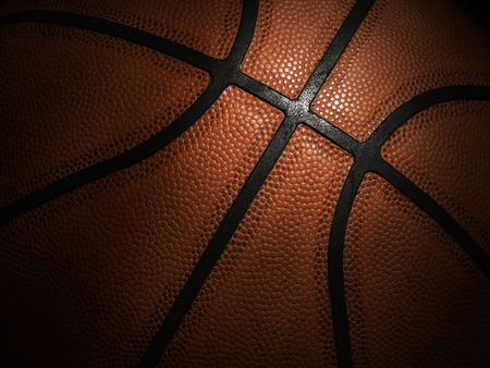 basketball background: Basketball close-up