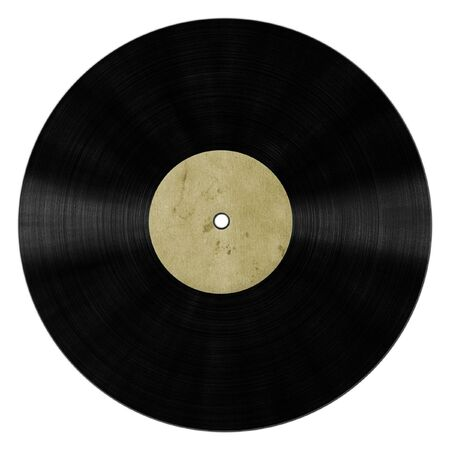 vinyl record isolated on white background Stock Photo - 8571854