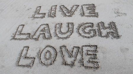sand writing: Writing in the sand