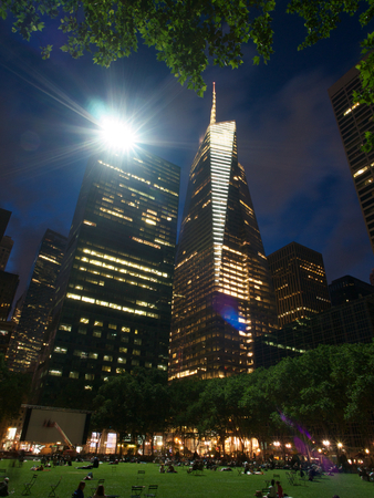 bryant: City scape at Bryant Park, Manhattan,