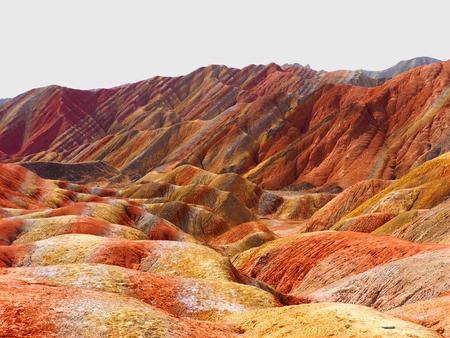 Colorful Danxia Topography,Zhangye,Gansu,China