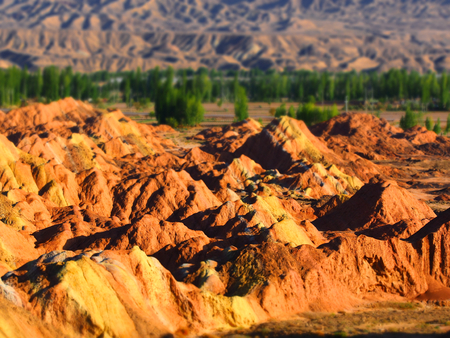 topografia: Colorful Danxia Topography,Zhangye,Gansu,China