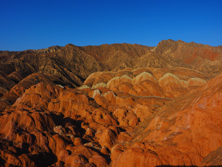 topografia: Danxia colorido Topografía, Zhangye, Gansu, China