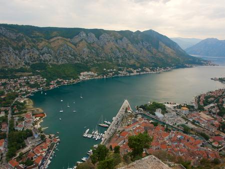 overlook: Overlook Kotor old city .Montenegro