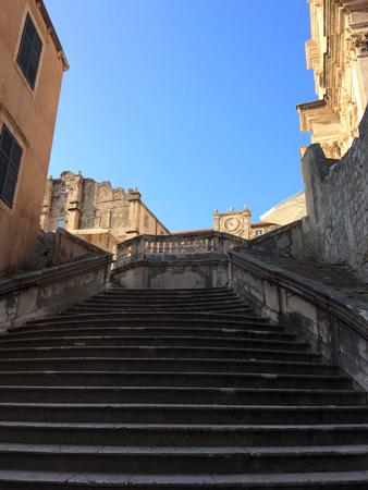 upstairs: Upstairs to Crkva Svetog Stjepana,Dubrovnik,Croatia.