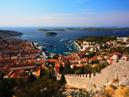 overlook: Hvar harbor overlook, Croatia Stock Photo