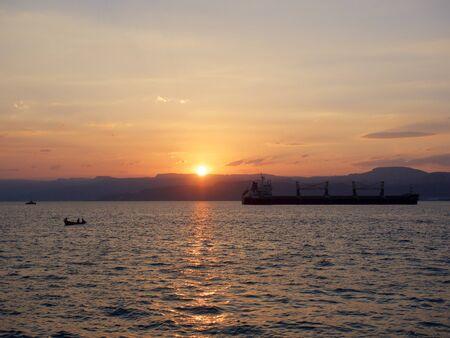 red sea: Red sea sunset,Aqaba,Jordan