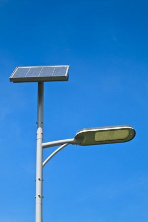 Street light with solor power photo