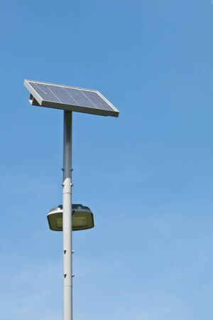 Street light with solar cell power Stock Photo - 17101789